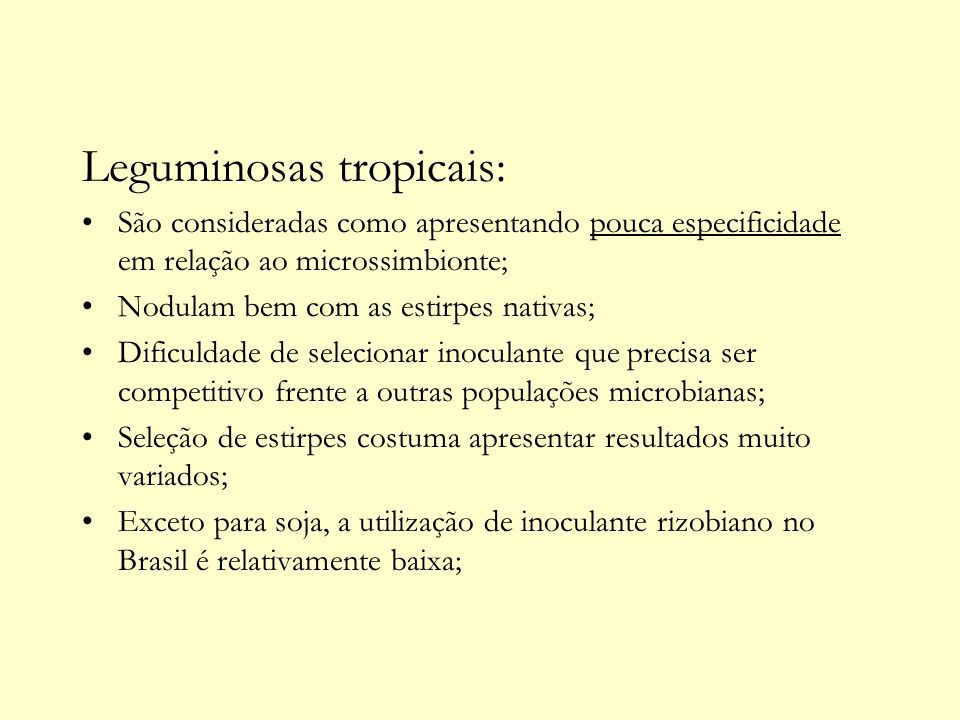 Leguminosas tropicais: