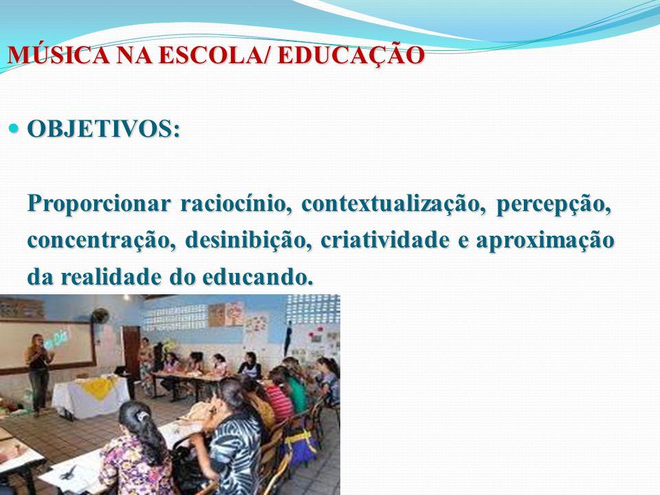 MÚSICA NA ESCOLA/ EDUCAÇÃO