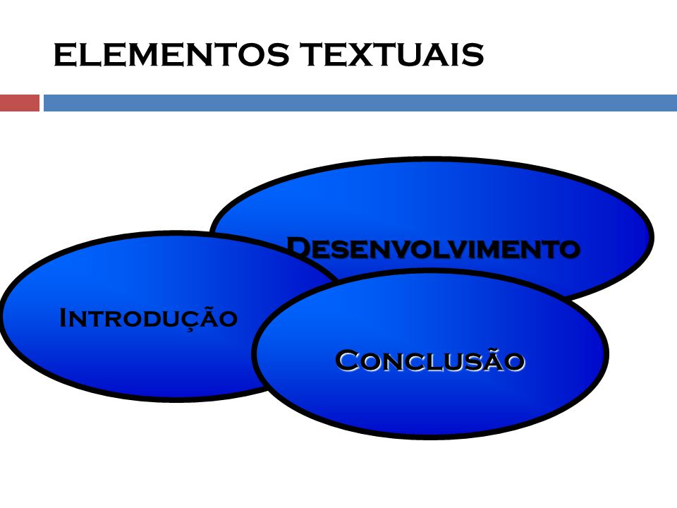 ELEMENTOS TEXTUAIS Desenvolvimento Introdução Conclusão