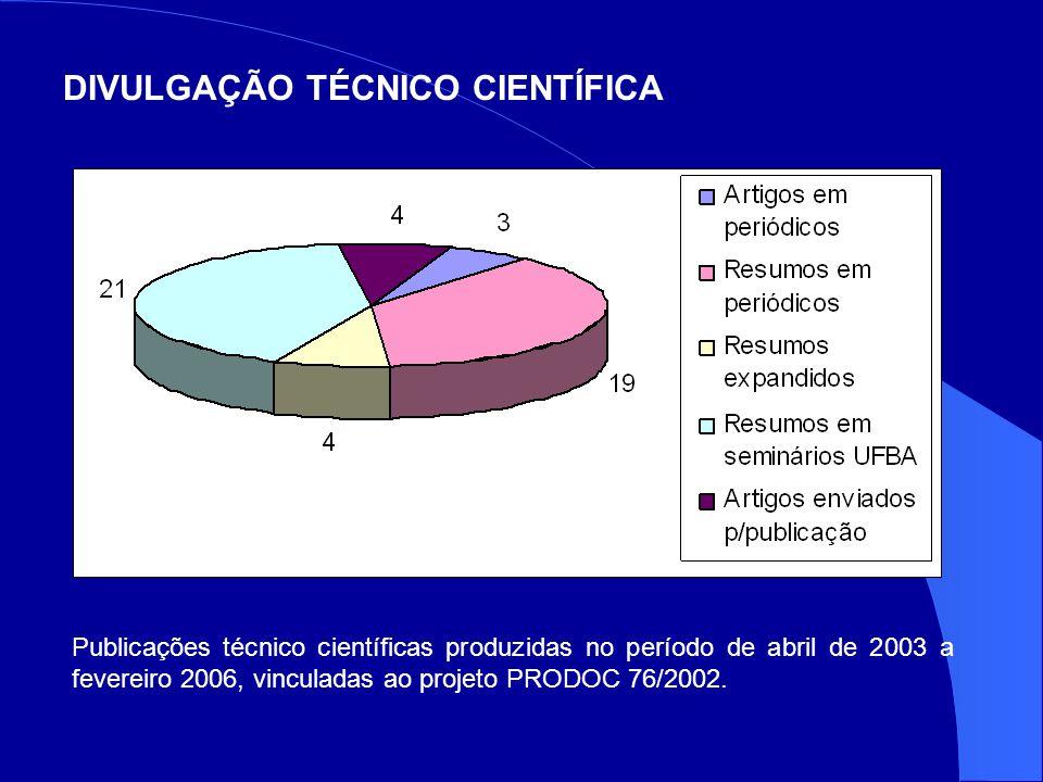 DIVULGAÇÃO TÉCNICO CIENTÍFICA