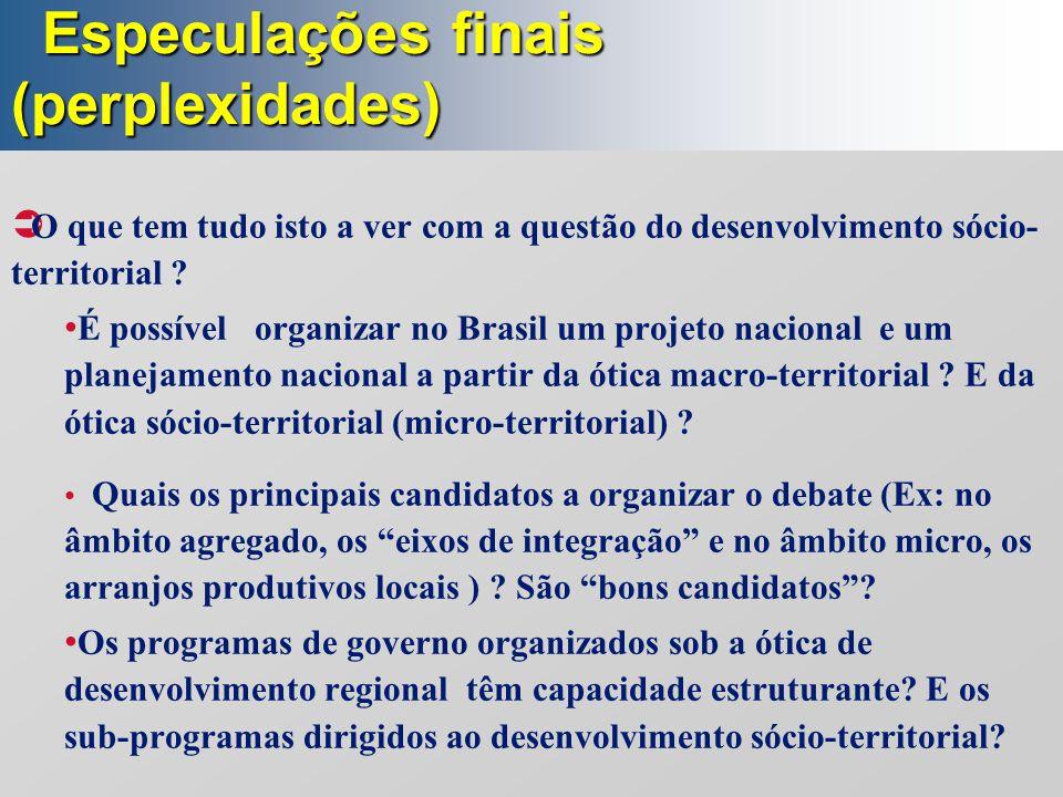 Especulações finais (perplexidades)