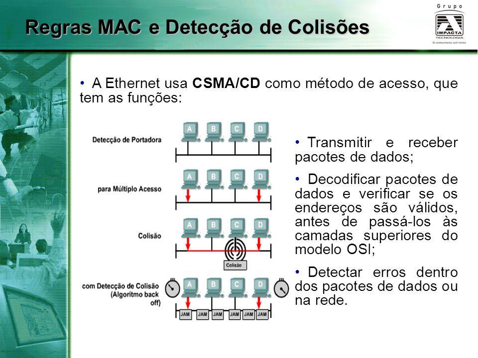 Regras MAC e Detecção de Colisões