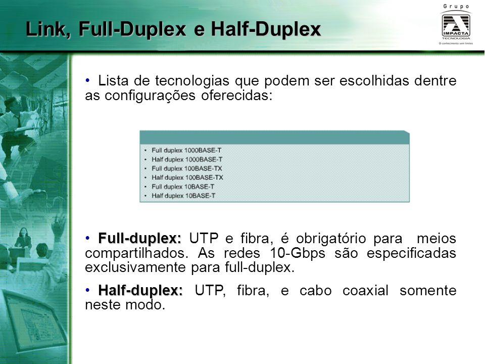 Link, Full-Duplex e Half-Duplex