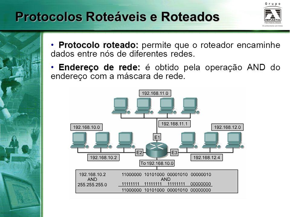 Protocolos Roteáveis e Roteados