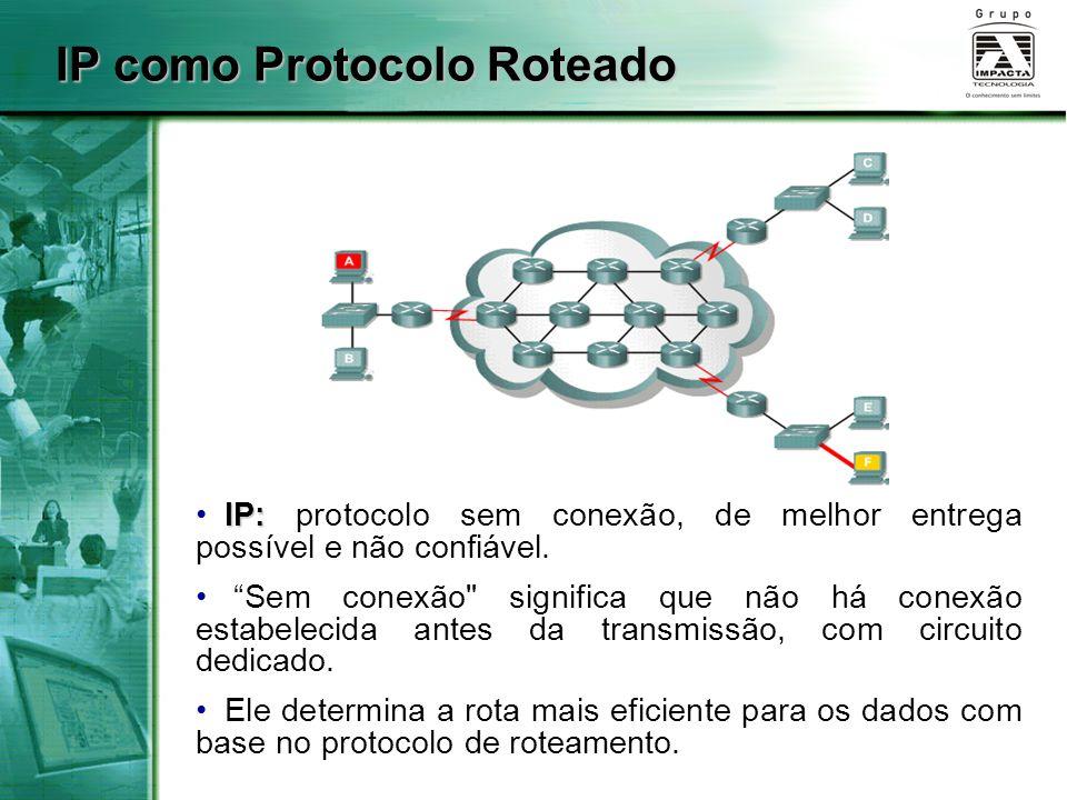 IP como Protocolo Roteado