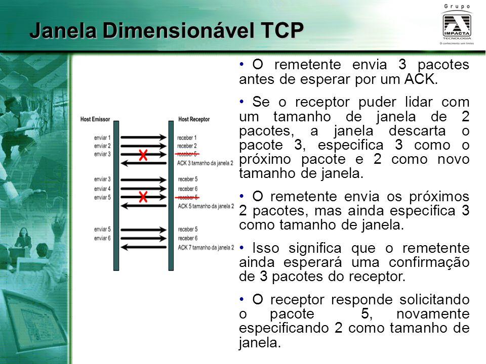 Janela Dimensionável TCP