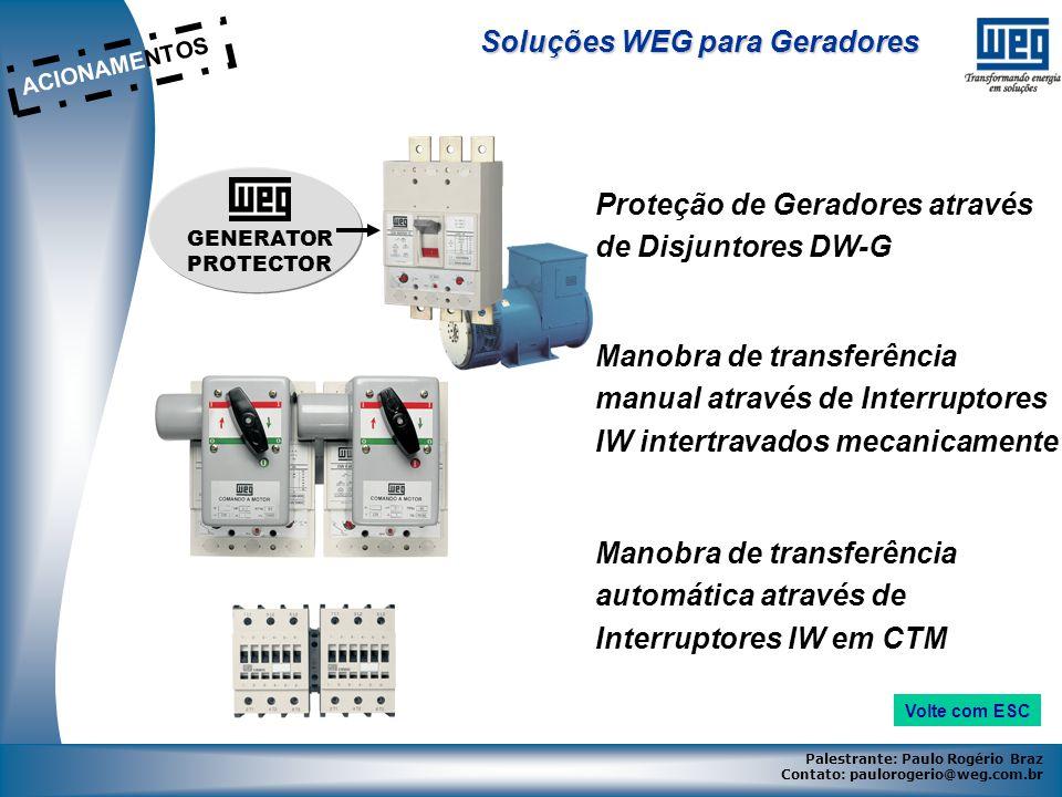 Soluções WEG para Geradores