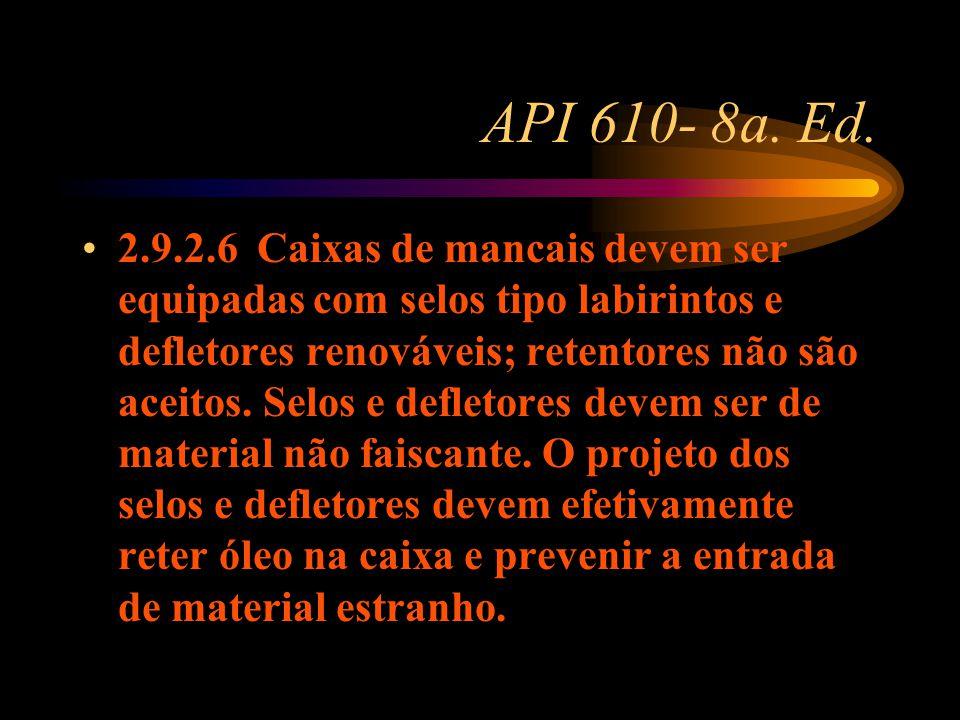 API 610- 8a. Ed.