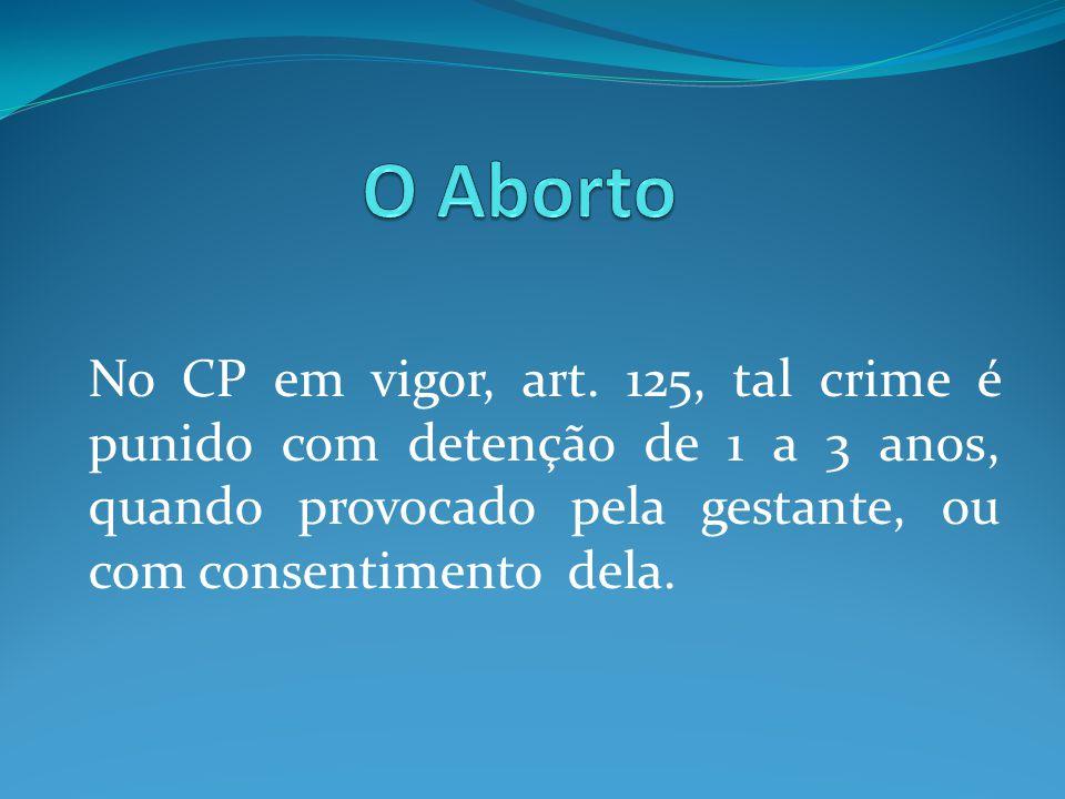 O Aborto No CP em vigor, art.