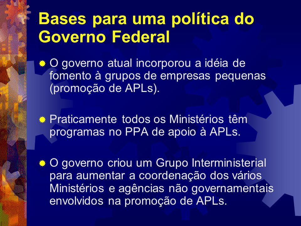 Bases para uma política do Governo Federal