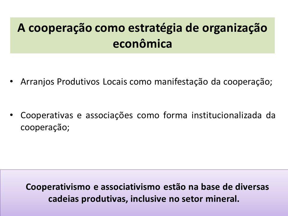 A cooperação como estratégia de organização econômica