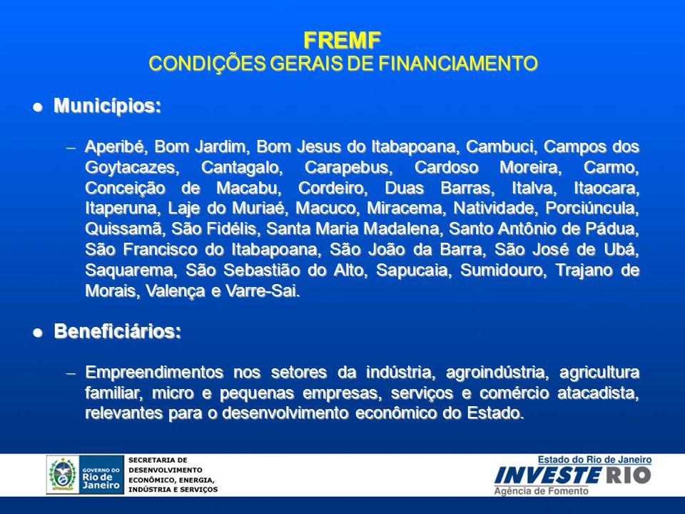 CONDIÇÕES GERAIS DE FINANCIAMENTO