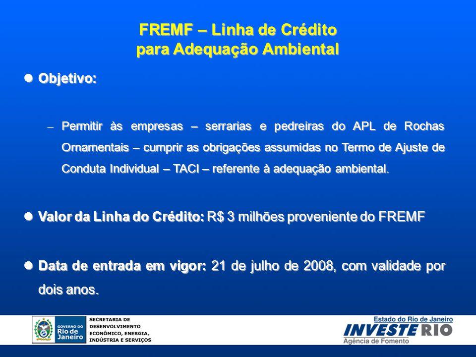 FREMF – Linha de Crédito para Adequação Ambiental
