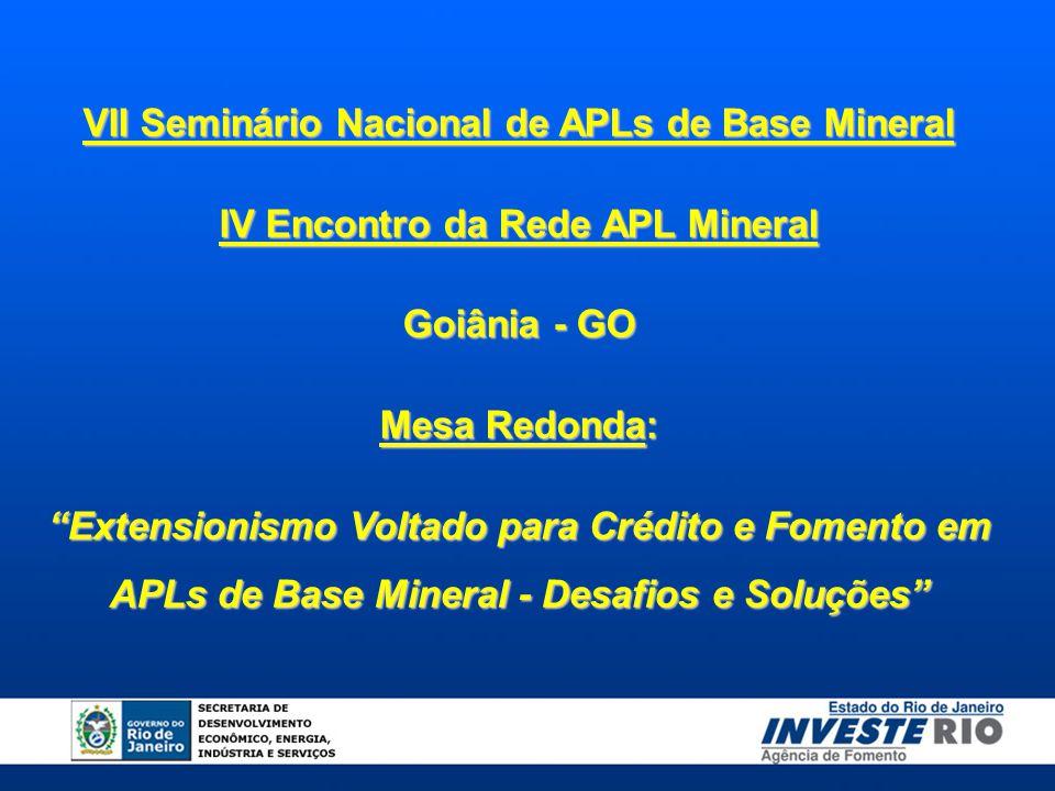 VII Seminário Nacional de APLs de Base Mineral