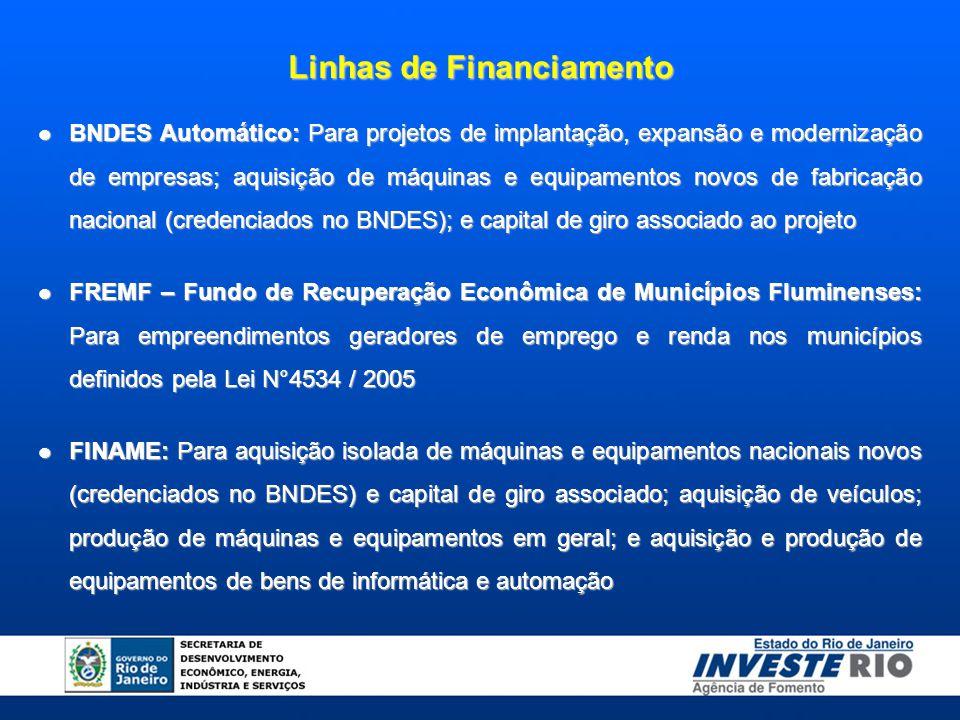 Linhas de Financiamento