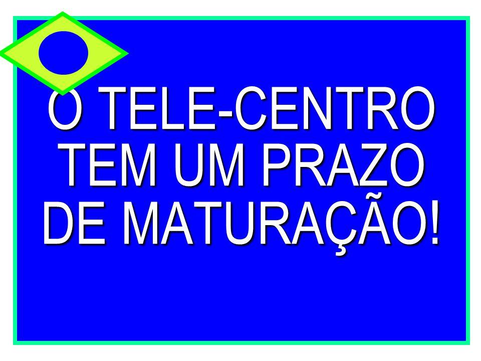 O TELE-CENTRO TEM UM PRAZO DE MATURAÇÃO!