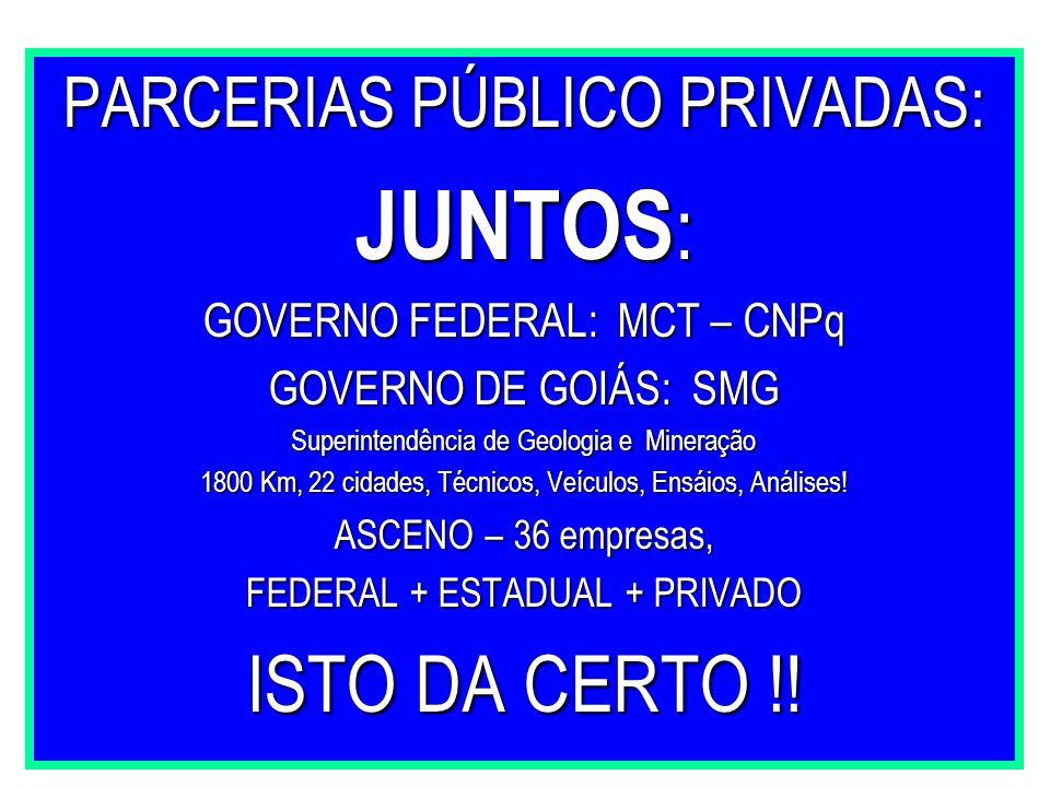 JUNTOS: ISTO DA CERTO !! PARCERIAS PÚBLICO PRIVADAS: