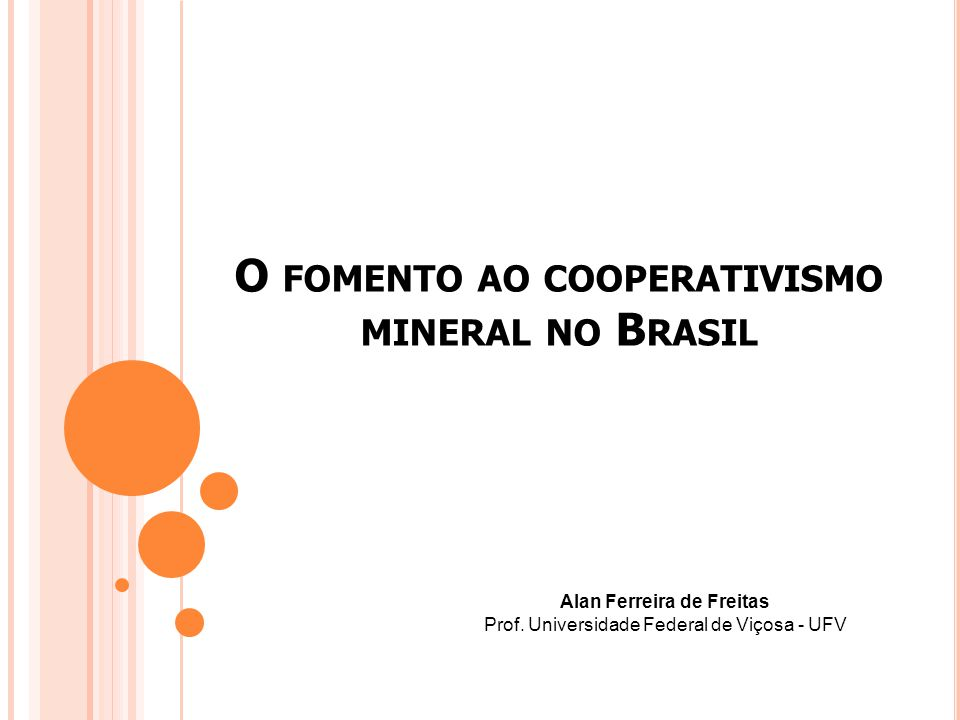 O fomento ao cooperativismo mineral no Brasil