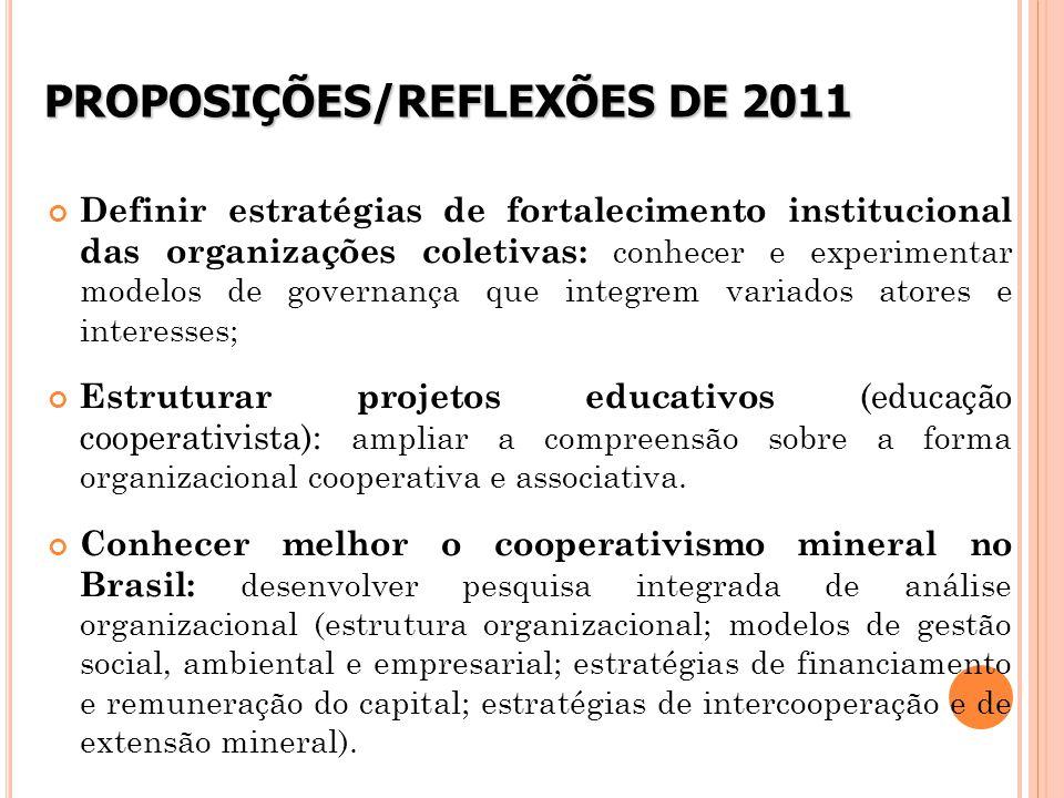 PROPOSIÇÕES/REFLEXÕES DE 2011