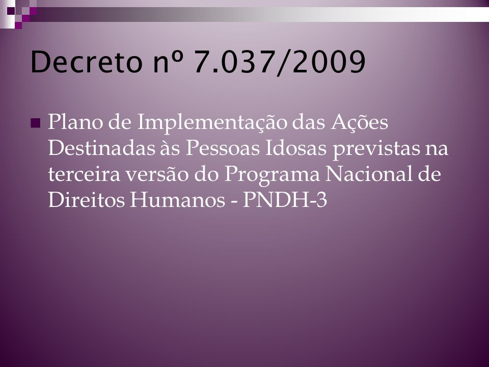 Decreto nº 7.037/2009