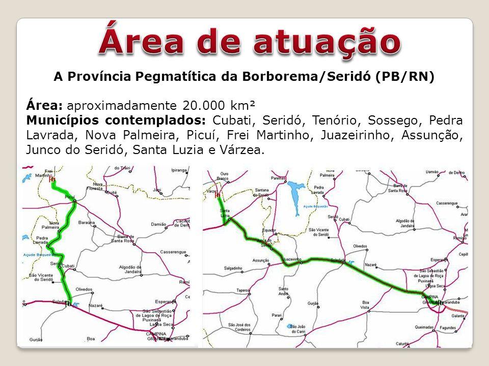 A Província Pegmatítica da Borborema/Seridó (PB/RN)