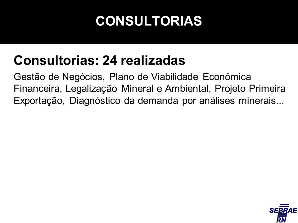 Consultorias: 24 realizadas