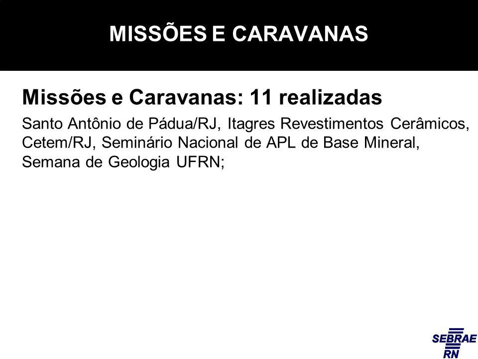 Missões e Caravanas: 11 realizadas