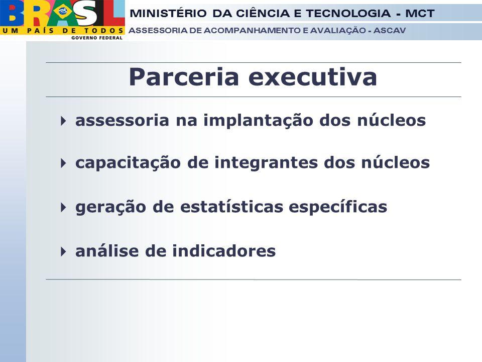 Parceria executiva assessoria na implantação dos núcleos