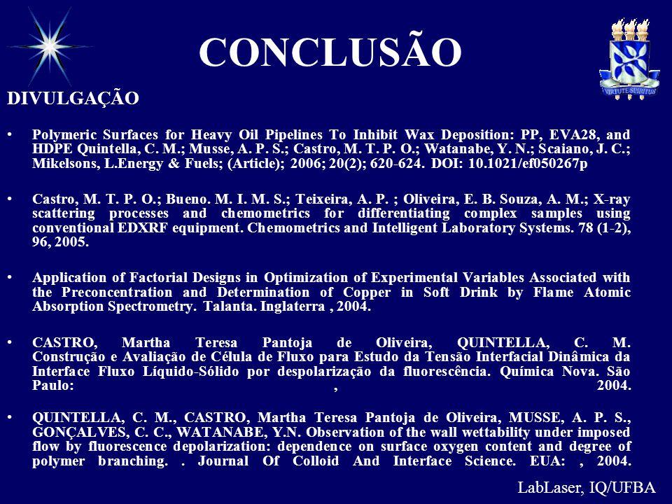 CONCLUSÃO DIVULGAÇÃO LabLaser, IQ/UFBA