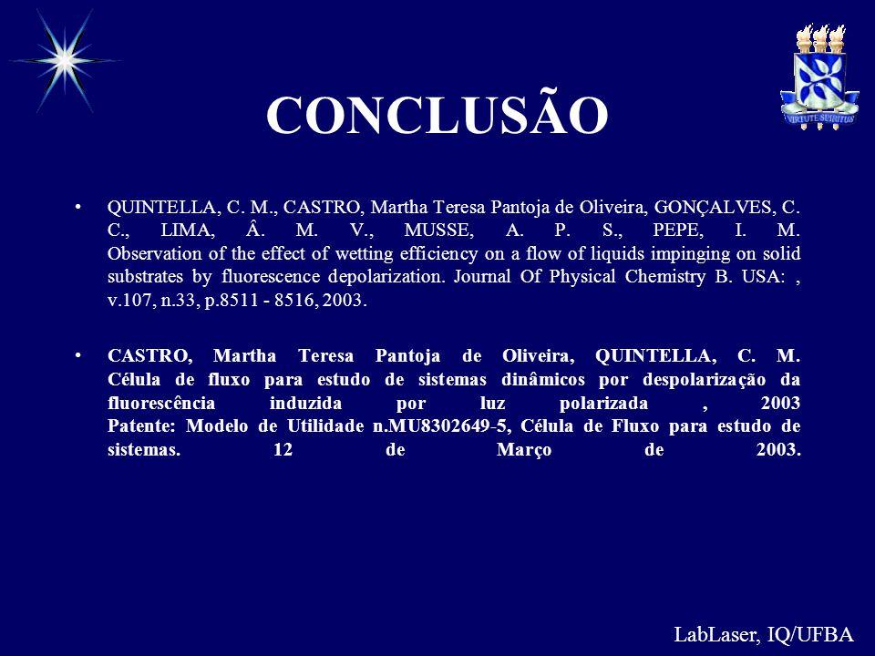 CONCLUSÃO LabLaser, IQ/UFBA