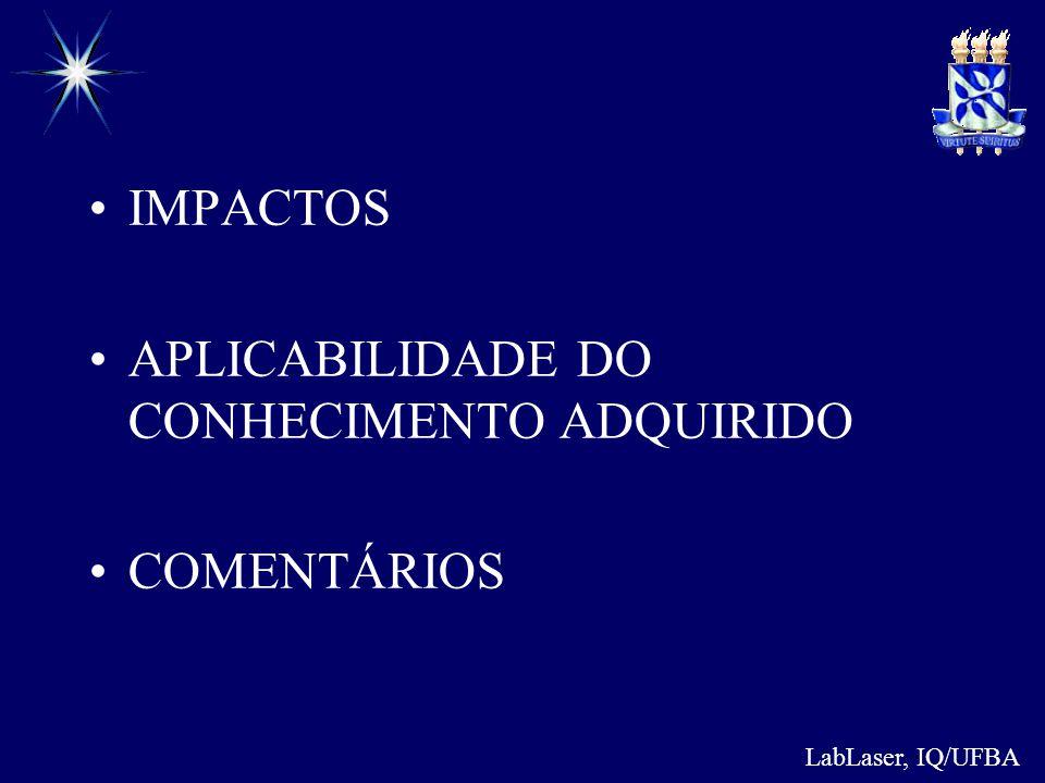 APLICABILIDADE DO CONHECIMENTO ADQUIRIDO