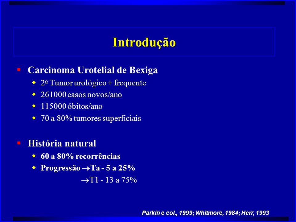 Introdução Carcinoma Urotelial de Bexiga História natural