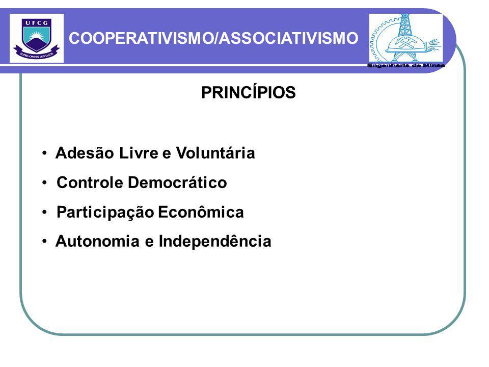 Engenharia de Minas PRINCÍPIOS COOPERATIVISMO/ASSOCIATIVISMO