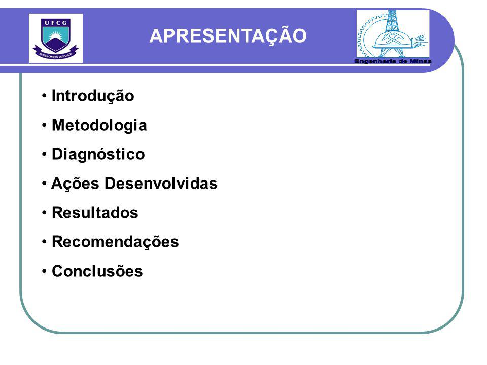 Engenharia de Minas APRESENTAÇÃO Introdução Metodologia Diagnóstico