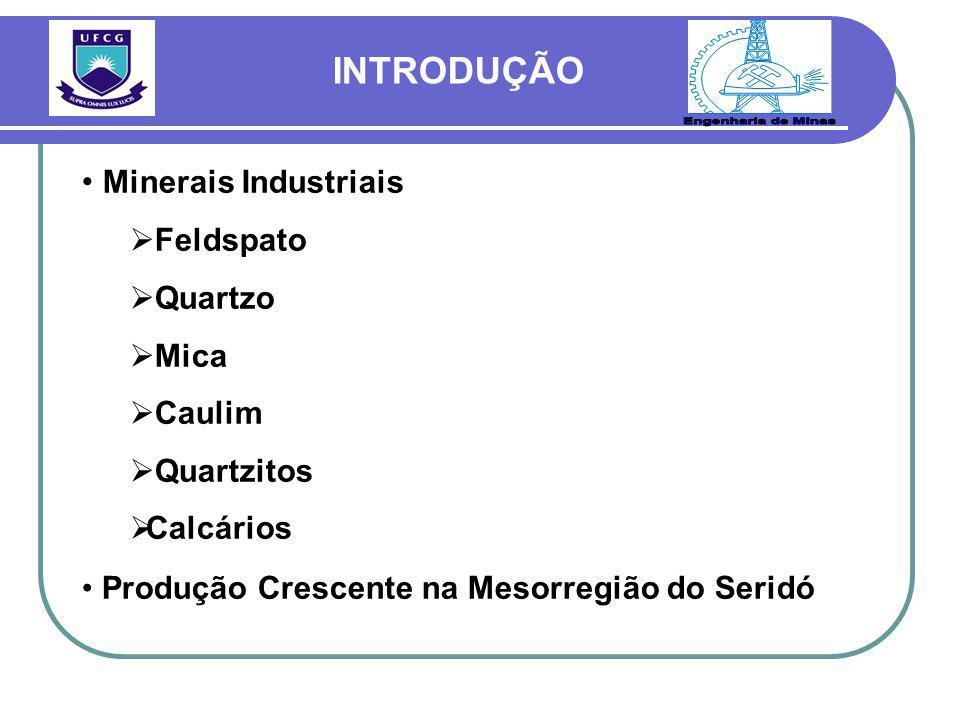 Engenharia de Minas INTRODUÇÃO Minerais Industriais Feldspato Quartzo