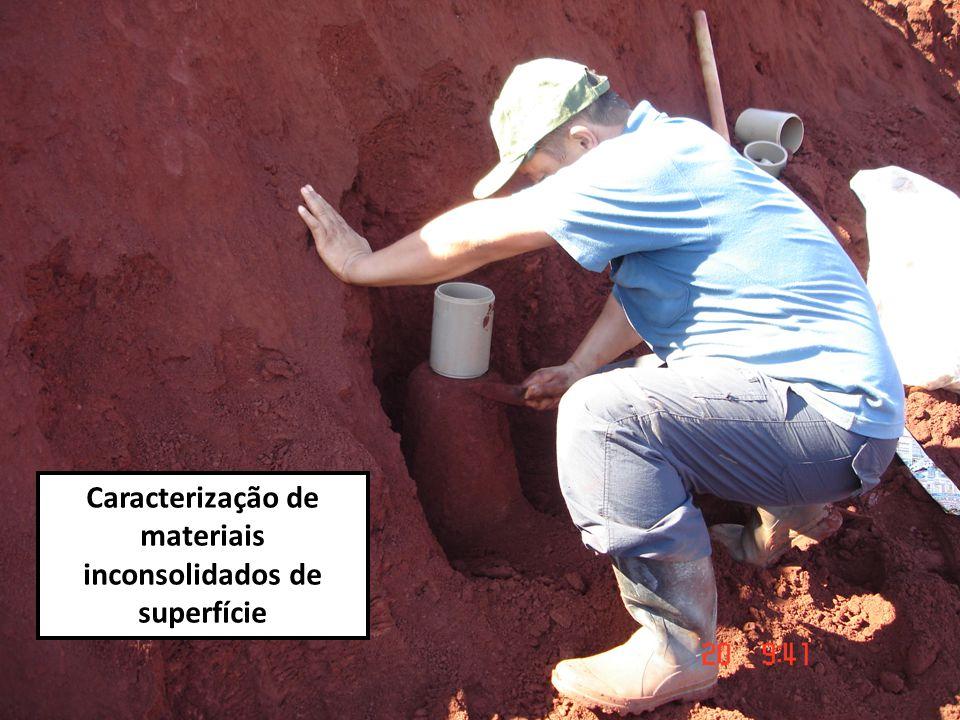 Caracterização de materiais inconsolidados de superfície