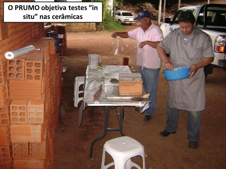 O PRUMO objetiva testes in situ nas cerâmicas
