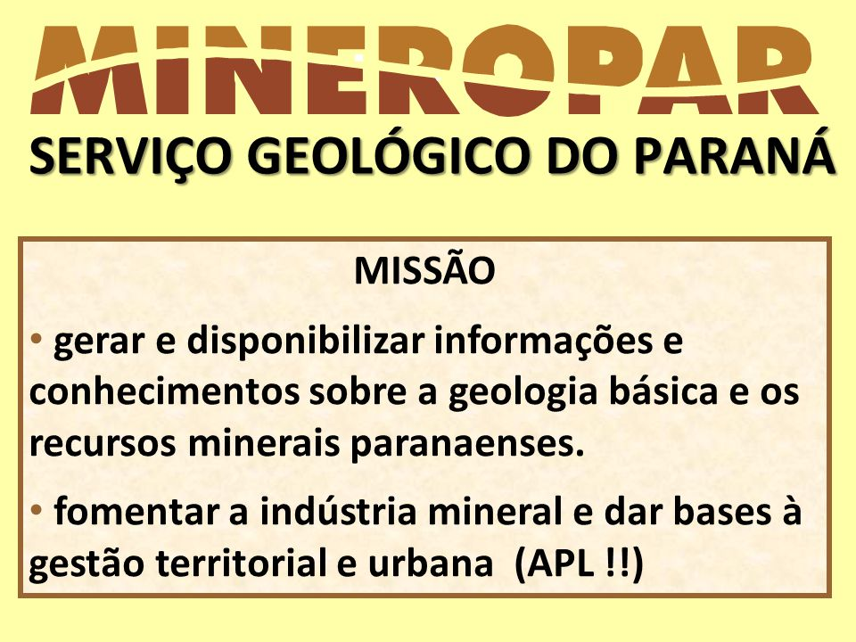 SERVIÇO GEOLÓGICO DO PARANÁ