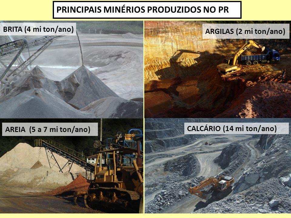 PRINCIPAIS MINÉRIOS PRODUZIDOS NO PR