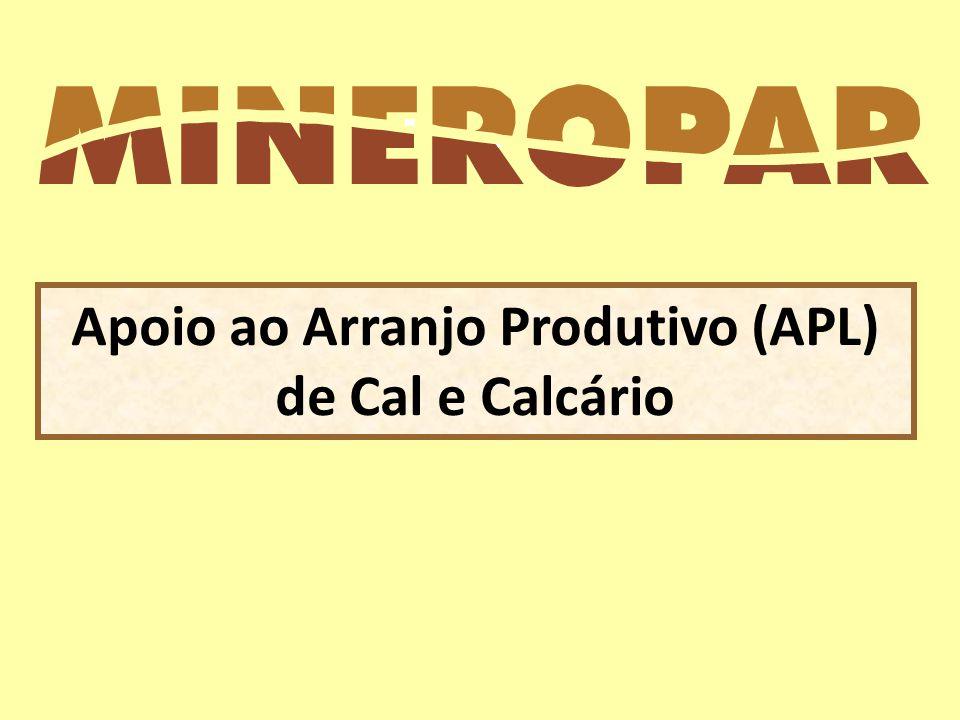 Apoio ao Arranjo Produtivo (APL) de Cal e Calcário