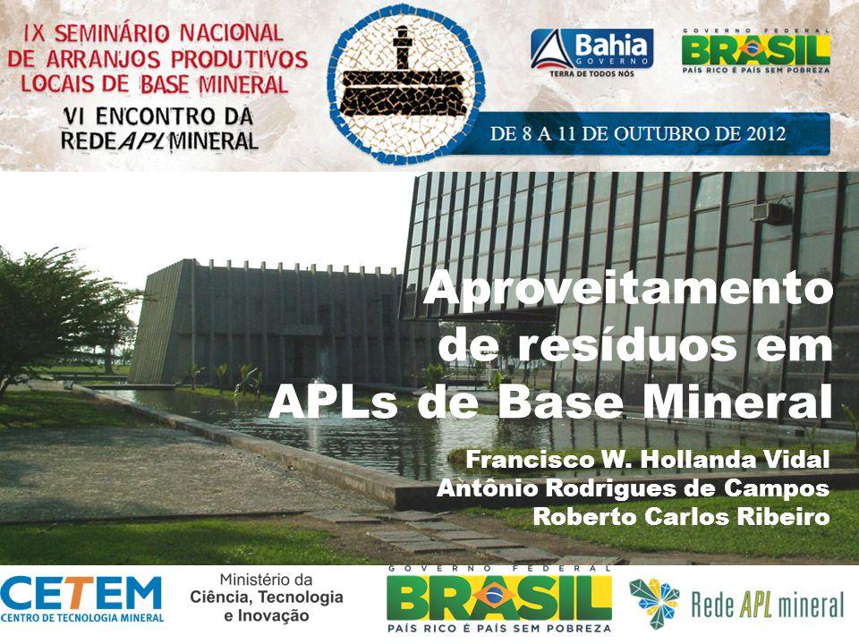 Aproveitamento de resíduos em APLs de Base Mineral