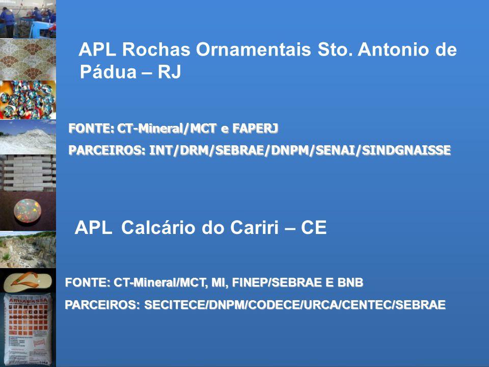 APL Rochas Ornamentais Sto. Antonio de Pádua – RJ
