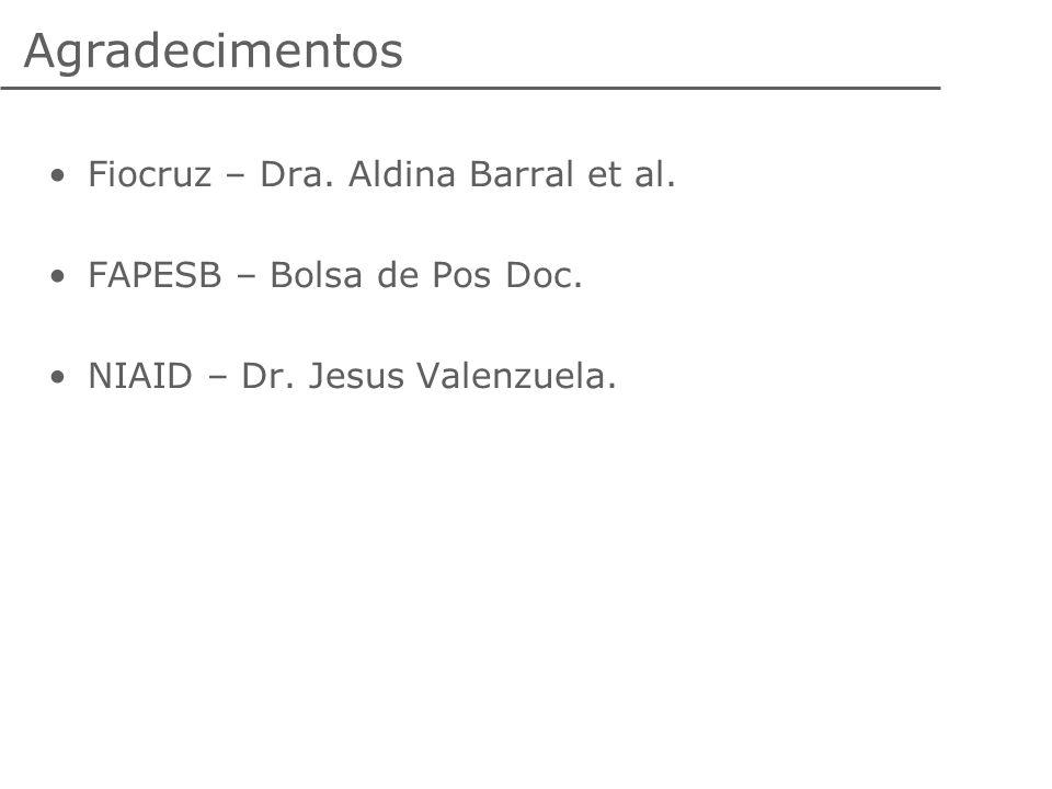 Agradecimentos Fiocruz – Dra. Aldina Barral et al.