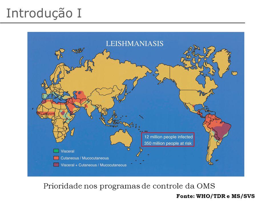 Introdução I Prioridade nos programas de controle da OMS
