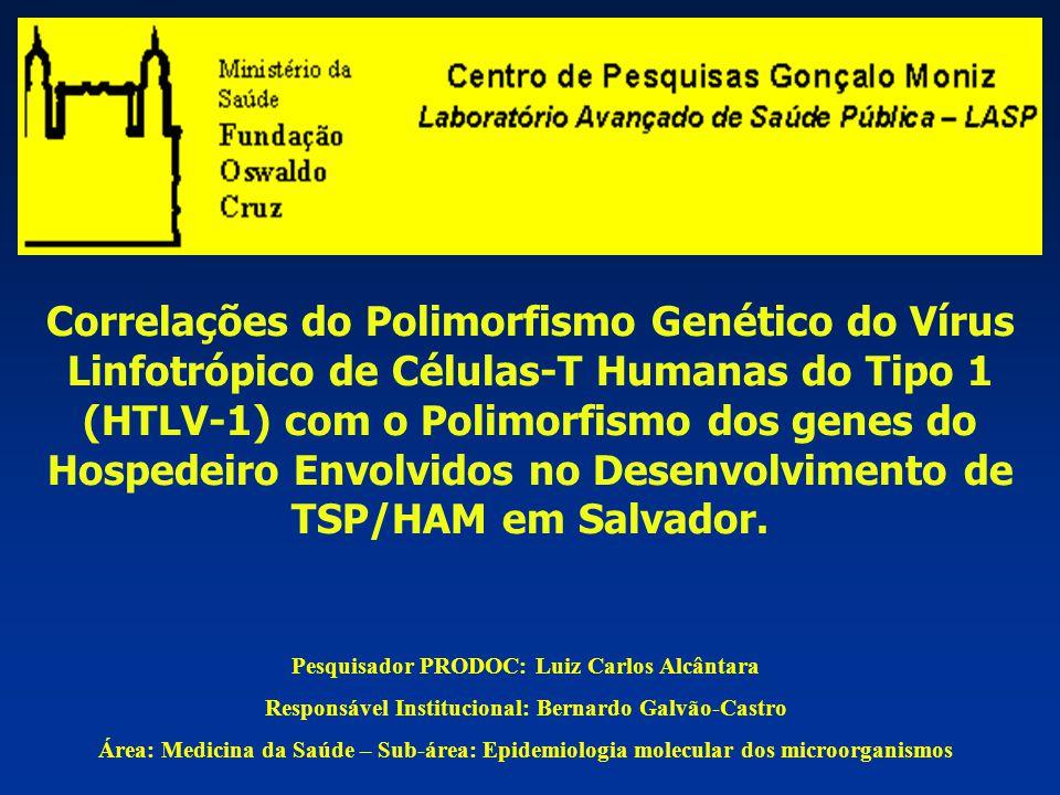 Correlações do Polimorfismo Genético do Vírus Linfotrópico de Células-T Humanas do Tipo 1 (HTLV-1) com o Polimorfismo dos genes do Hospedeiro Envolvidos no Desenvolvimento de TSP/HAM em Salvador.