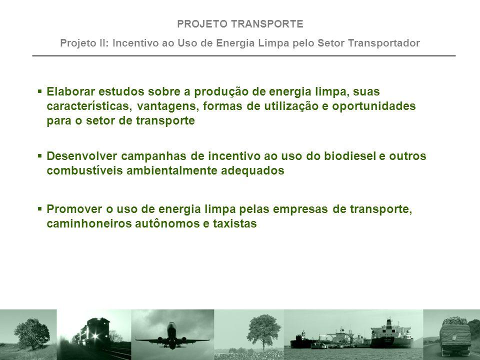 Projeto II: Incentivo ao Uso de Energia Limpa pelo Setor Transportador