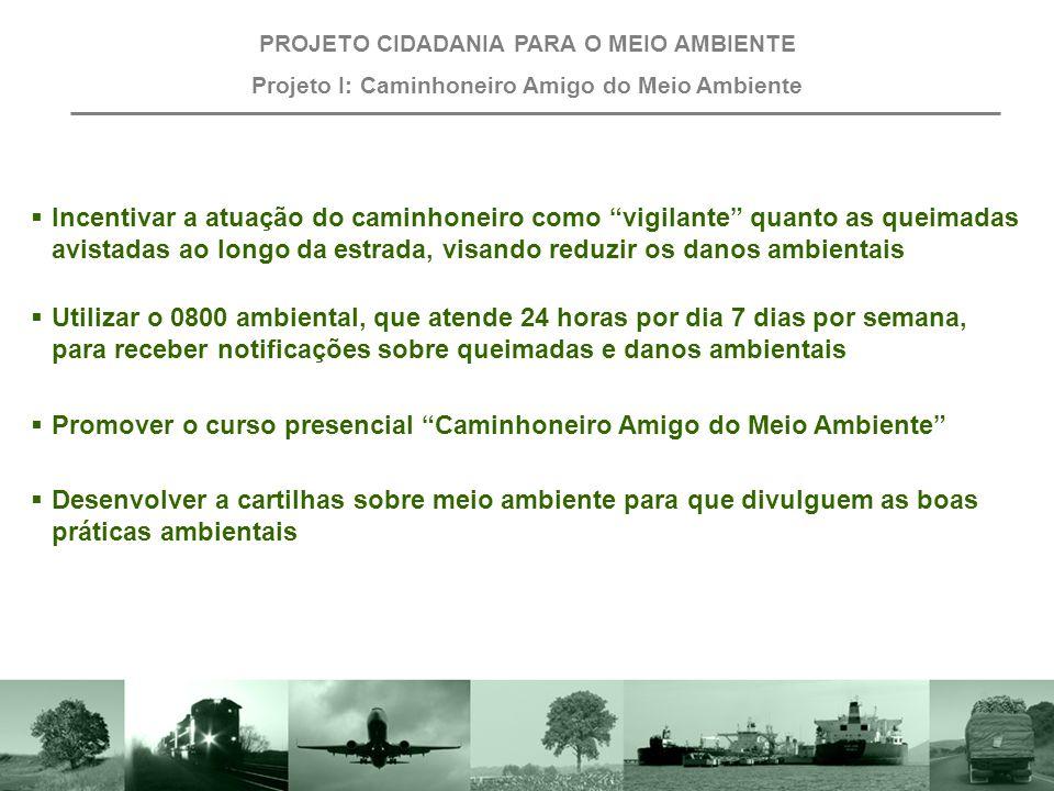 Promover o curso presencial Caminhoneiro Amigo do Meio Ambiente