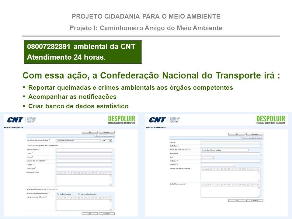Com essa ação, a Confederação Nacional do Transporte irá :