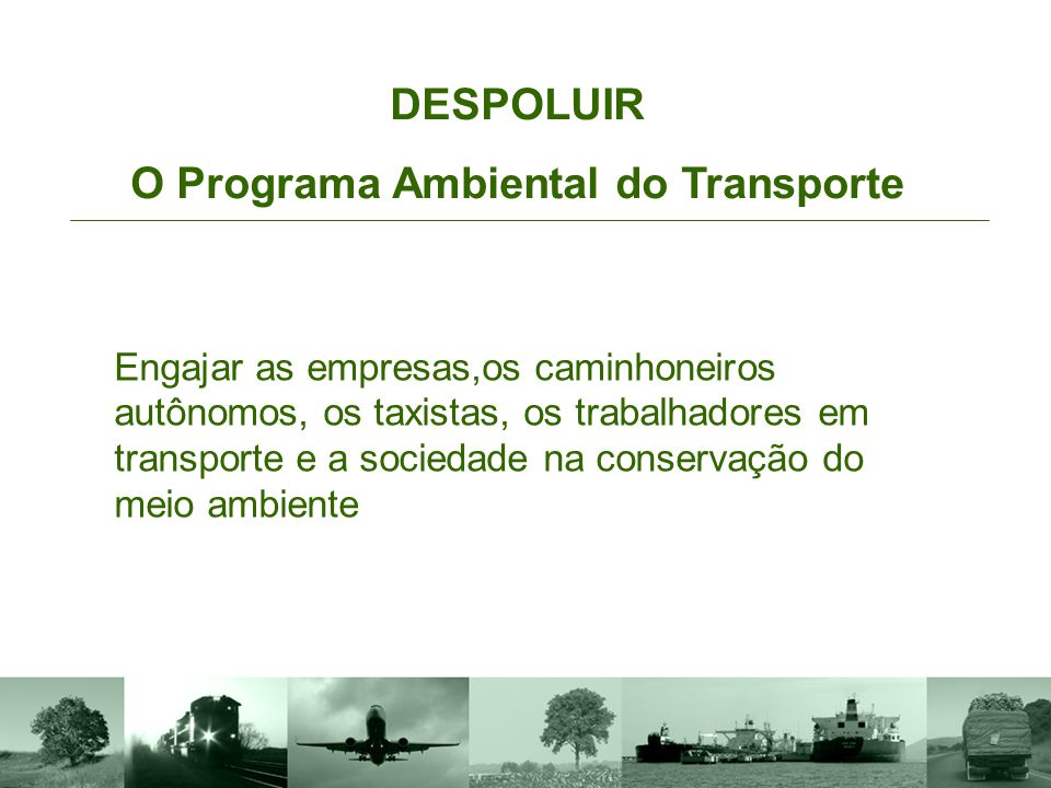 O Programa Ambiental do Transporte