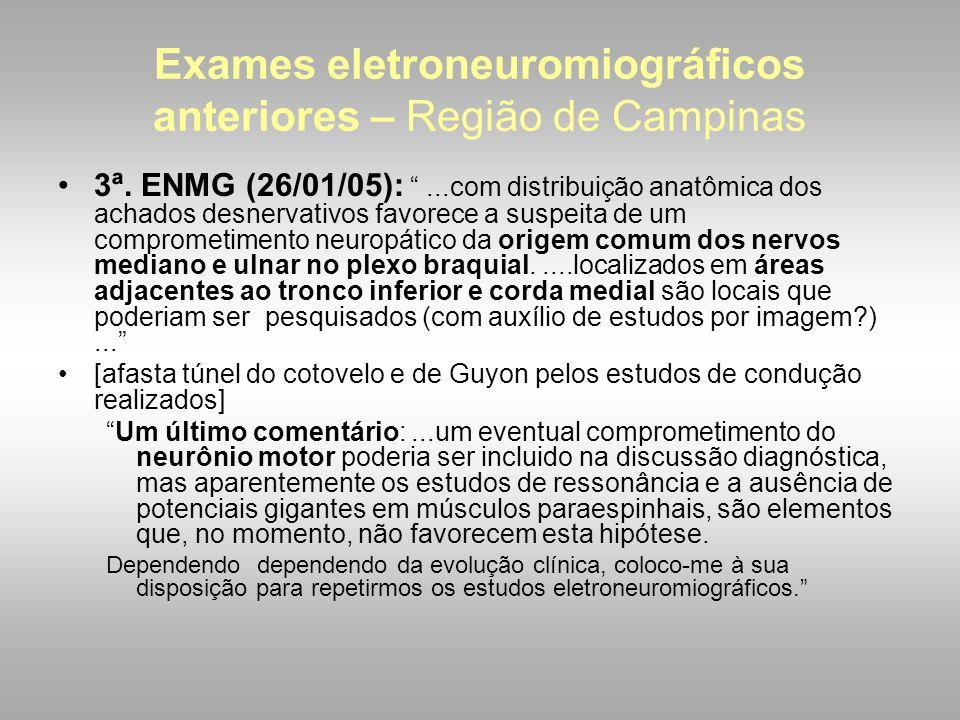 Exames eletroneuromiográficos anteriores – Região de Campinas